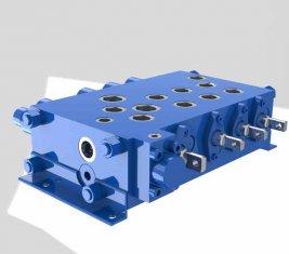 Grúa combinatoria control direccional hidráulica válvula QYSF18-15