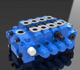 Válvula de Control direccional Multi hidráulica 4GCJX-G18L de ingeniería