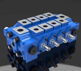 Múltiple hidráulico combinado válvula de Control direccional DL para ingeniería